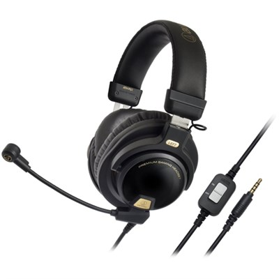 Closed-Back Premium Gaming Headset with 6-inch Boom Microphone (ATH-PG1)