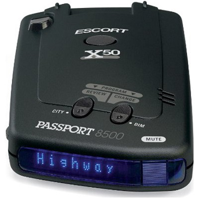 PassPort 8500 X50 Radar Detector with Blue Display