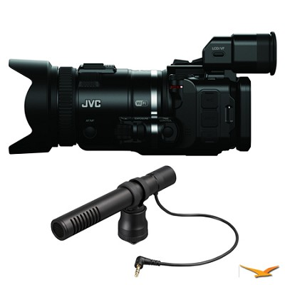 GC-PX100BUS HD Everio Black Camcorder and Microphone Bundle