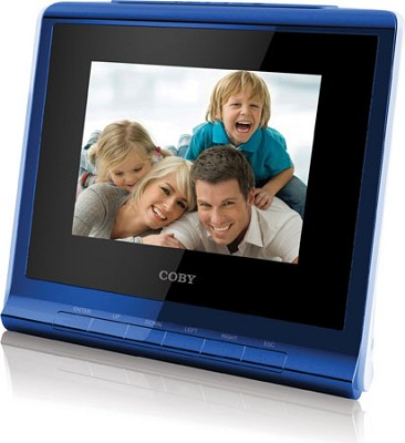 3.5` (4:3) Digital Photo Frame with Alarm Clock Blue