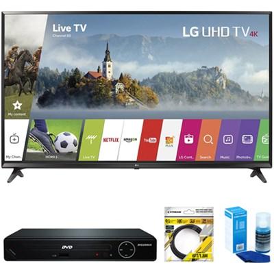 49` UHD 4K HDR Smart LED TV 2017 Model + DVD Player Bundles