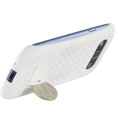 Galaxy S III Coin Stand Case - White