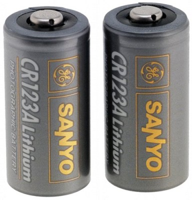 2-Pack of 123A 3V Lithium Photo Batteries
