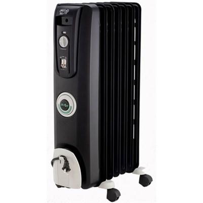 Safeheat 1500W ComforTemp Portable Oil-Filled Radiator Heater - Black