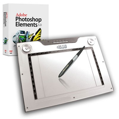 12X7.5`widescreen Media GraphicTablet,4000 LPI,dual mode,34 pro marco&photoshop