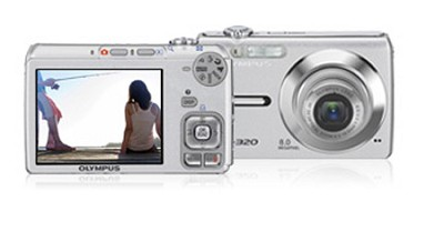 FE-320 8.0 MP Digital Camera (Silver) - REFURBISHED