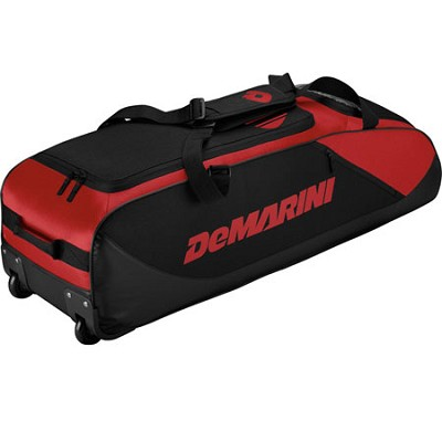 D-Team Wheeled Bat Bag, Red