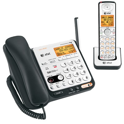 DECT 6.0 Digital Dual Handset Answering System with Dial-in-Base Speakerphone