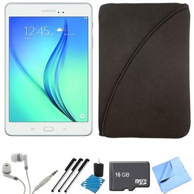 Galaxy Tab A 9.7-Inch Tablet (16 GB, White) 16GB Memory Card Bundle