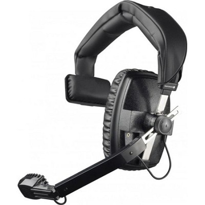 DT-108-200-400-BLACK Single-Ear Headset with Dynamic Hypercardioid Microphone