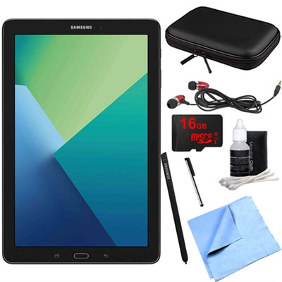 Galaxy Tab A 10.1 Tablet PC Black w/ S Pen, WiFi & Bluetooth w/ 16GB Card Bundle