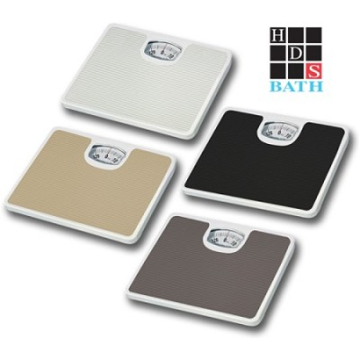 Bathroom Scale with Non-Skid Protection White
