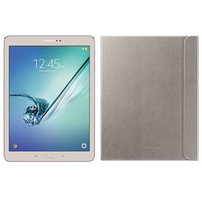 Galaxy Tab S2 9.7-inch Wi-Fi Tablet (Gold/32GB) + Gold Book Cover