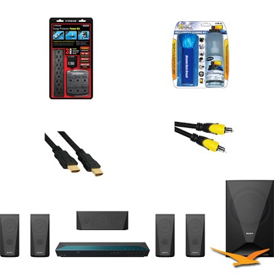 BDVE3100 - 5.1 Channel 3D Blu-ray Disc Home Theater System with HookUp Bundle