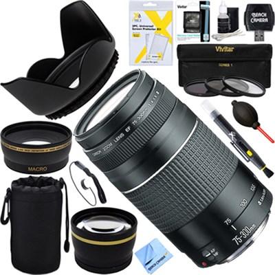 EF 75-300mm F4-5.6 III + Wide-Angle & Telephoto EOS Lens Kit - Refurbished