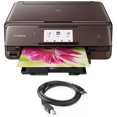 PIXMA wireless Color Photo Printer, Scanner & Copier Brown + Printer Cable