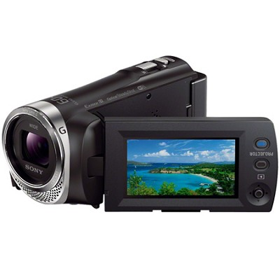 HDR-PJ340/B Full HD 60p Camcorder w/ built-in Projector - OPEN BOX