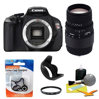 EOS Digital Rebel T3i 18MP SLR Camera Body w/ Sigma 70-300mm Lens