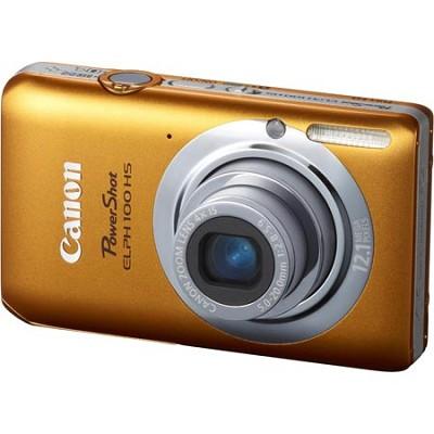 PowerShot ELPH 100 HS 12MP Orange Digital Camera w/ 4X Optical Zoom 1080p Video