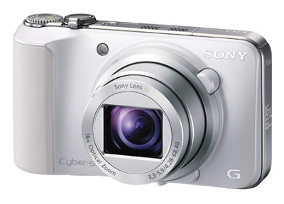 Cyber-shot DSC-HX10V (White) 18.2 MP 16x Zoom 3D Sweep HD Geotagging - OPEN BOX