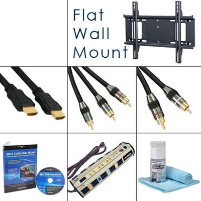 HDTV Essentials Bundle (Cables, Power, Flat Mount, Plus...)