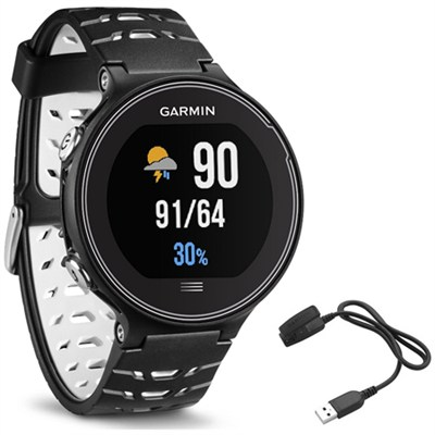 Forerunner 630 GPS Smartwatch - Black and White - Charging Clip Bundle