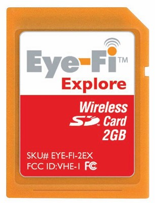 2GB Explore -Wireless Photo Uploads,Geotagging and Hotspot Access
