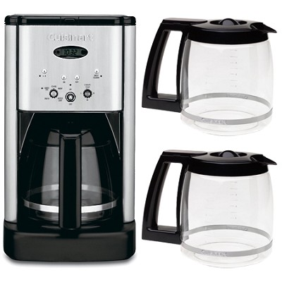 DCC-1200 Brew Central 12 Cup Programmable Coffeemaker + Two Bonus Carafes Bundle