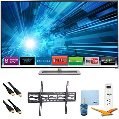 60` 1080p 240Hz 3D LED Smart HDTV Plus Tilt Mount & Hook-Up Bundle - M601D-A3R