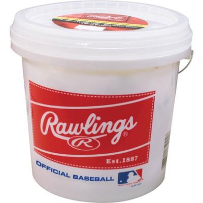 Bucket with 2 Dozen ROLB3 Baseballs
