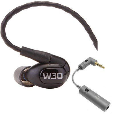 W30 Triple Driver Premium In-Ear Monitor Noise Isolating Headphones w/ iEMATCH