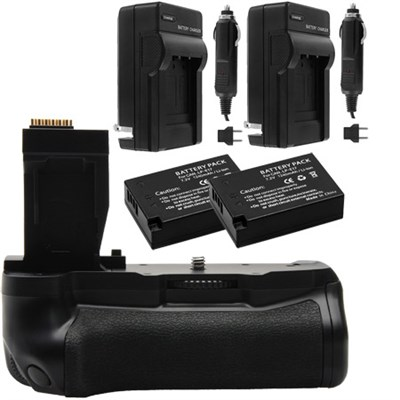 Two-Pack 1140mAh Battery & Charger for LP-E17 + T6i/T6s Battery Grip Bundle