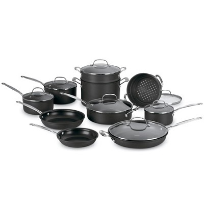 66-17 - Chef's Classic Nonstick Hard-Anodized 17-Piece Cookware Set