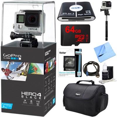 HERO 4 Black - 4K Action Camera Ready For Adventure Kit