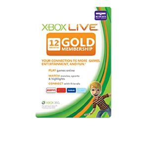 Xbox 360 Live Subscription Gold Card 12 Month Subscription