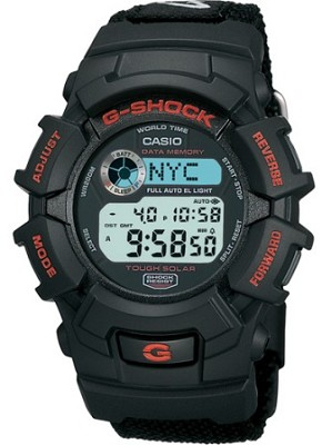 G2300B-1 - Men's G-Shock Tough Solar Black Nylon Band Watch