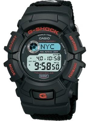 G2300B-1 - Men's G-Shock Tough Solar Black Nylon Band Watch