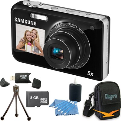 PL170 DualView 16 Megapixel Digital Camera - Black 8 GB Bundle