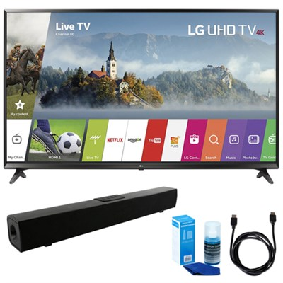 43-inch UHD 4K HDR Smart LED TV (2017 Model) w/ Sound Bar Bundle