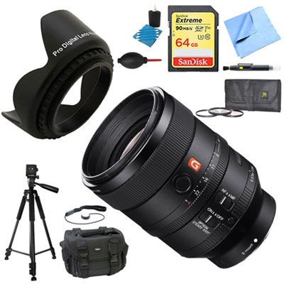FE 100mm F2.8 STF GM OSS Lens for Sony Cameras Deluxe Accessory Bundle