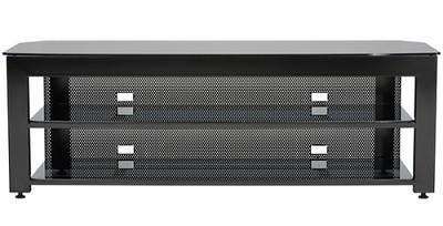 SFV265b - Steel A/V Stand for TVs up to 65` w/ 3 shelves (Hi-Gloss Black Finish)