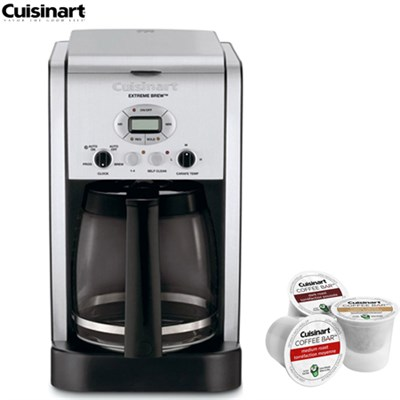 Brew Central 12Cup Programmable Coffeemaker Refurbished w/Asst K Cup Sample Pack