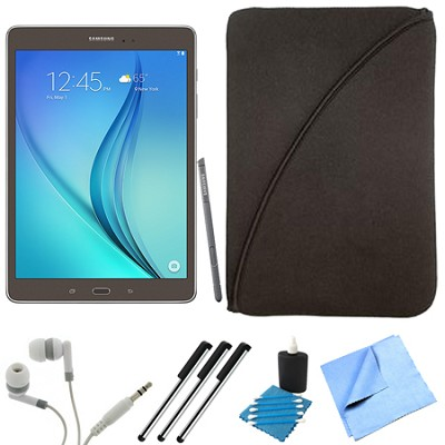 Galaxy Tab A SM-P550NZAAXAR 9.7-Inch W-Fi Tablet (Titanium with S-Pen) Bundle
