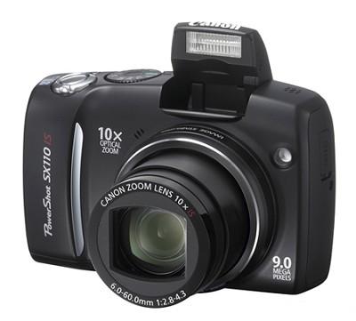 Powershot SX110 IS 9MP Digital Camera (Black) - REFURBISHED