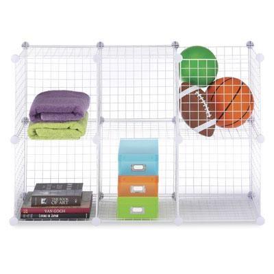 Wire Storage Cubes Set 6 White