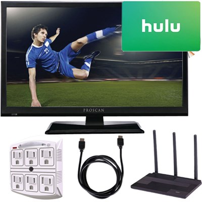 PLEDV2488A-E 24-Inch 720p 60Hz LED TV-DVD Player Freedom From Cable Bundle