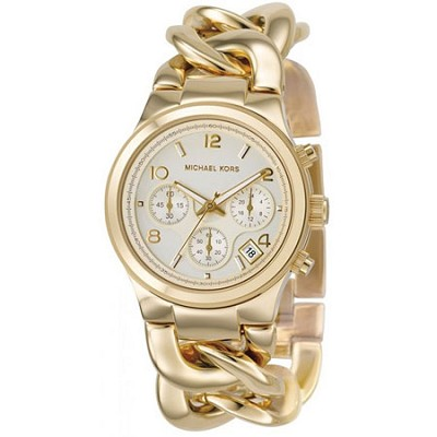 Women's Runway Twist Gold Tone Watch - MK3131