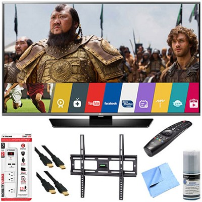 49LF6300 - 49` 1080p 120Hz LED Smart HDTV w/ Magic Remote Mount & Hook-Up Bundle