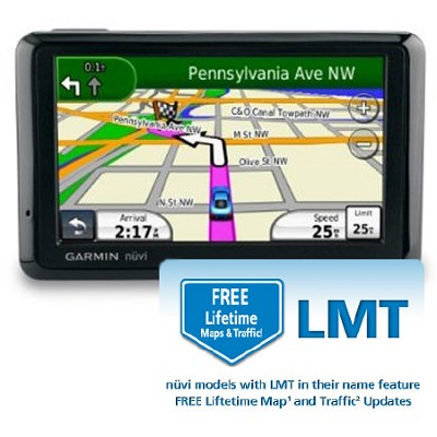 nuvi 1390LMT North America City GPS with Free Lifetime Maps and Traffic Updates