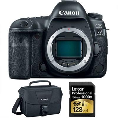 EOS 5D Mark IV 30.4 MP Full Frame CMOS DSLR Camera Body & 128GB Card Bundle